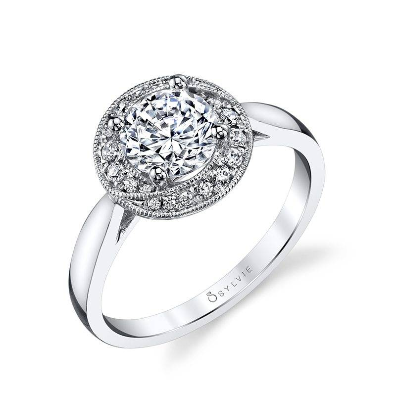 Ambre - Pear Shaped Halo Engagement Ring - SY999