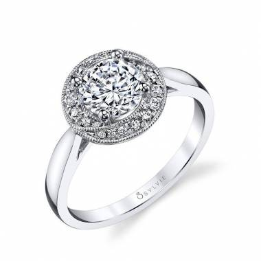 Modern Halo Engagement Ring_S1408-031A4W10R