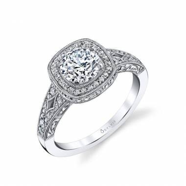 Quinn - Vintage Inspired Halo Engagement Ring - S1789