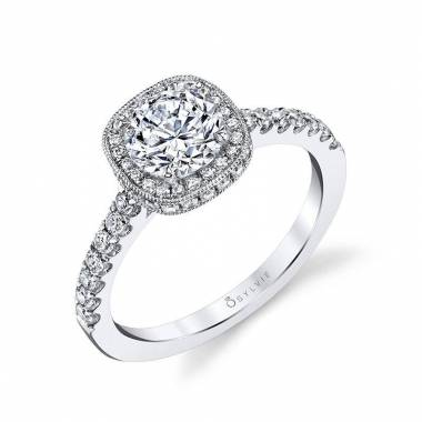 Alix - Classic Halo Engagement Ring - S1415