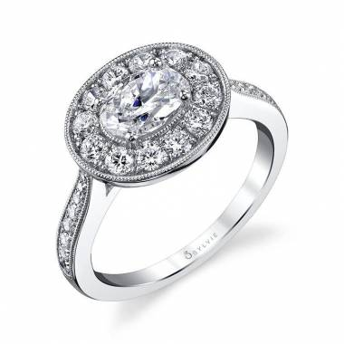 Jordane - Oval Engagement Ring with Halo - S1454