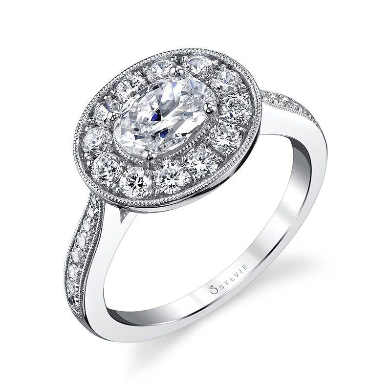 Alice - Princess Cut Halo Engagement Ring - SY729
