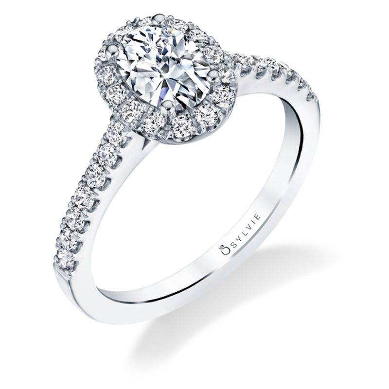 Jenny - Classic Petite Princess Cut Engagement Ring - SY696