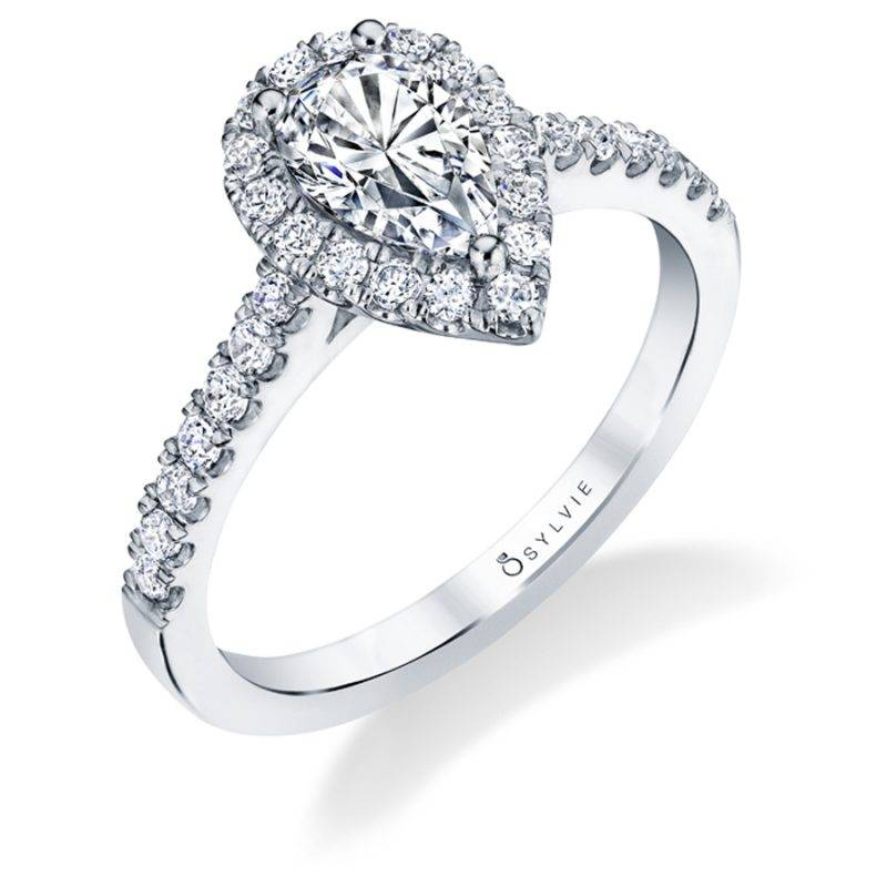 Clodine - Oval Shaped Halo Engagement Ring - SY590
