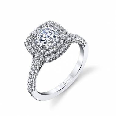 Carolina – Unique Double Halo Engagement Ring