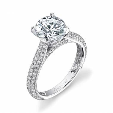 Constance - Micro Pave Solitaire Engagement Ring