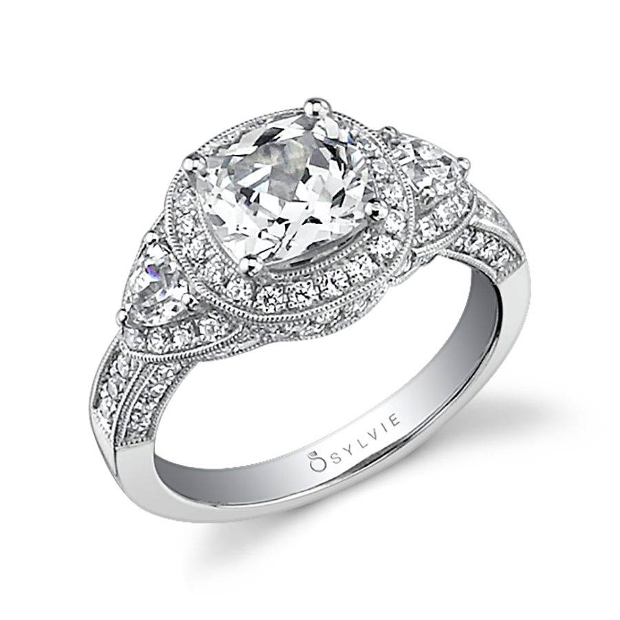 Brettany - Pear Shaped Engagement Ring with Halo - S1299