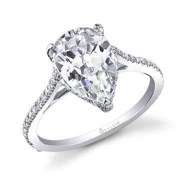 Madalyne - Pear Shaped Solitaire Engagement Ring - SY483