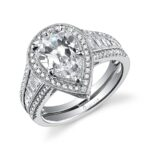 Pear Shaped Halo Engagement Ring with Halo_SY637-0116/A4W