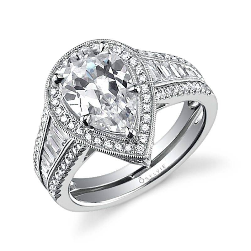 Inès - Petite Halo Engagement Ring - SY691
