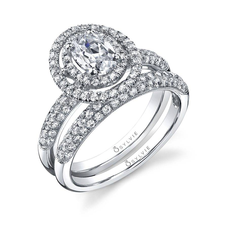 Marie-Êve - Oval Engagement Ring with Double Halo - SY688