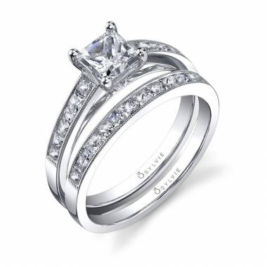 Célestine - Petite Princess Cut Solitaire Engagement Ring - SY709
