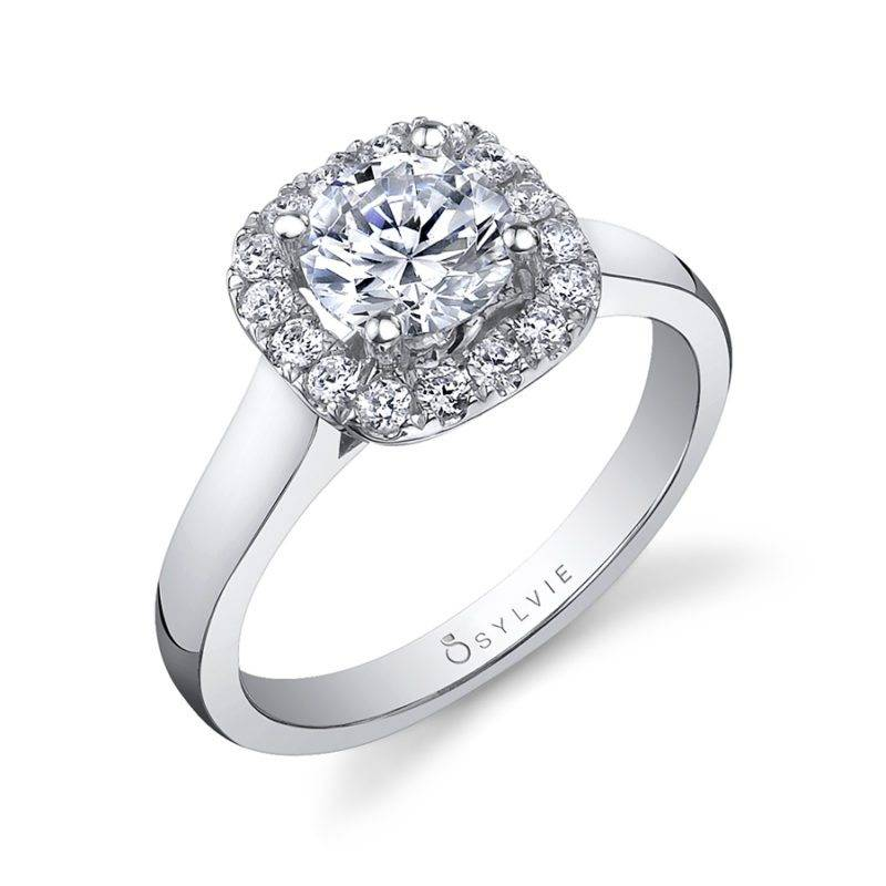 Avery - Marquise Cut Halo Engagement Ring - S1299