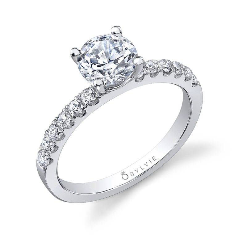 Antoinette - Round Solitaire Engagement Ring - S1516