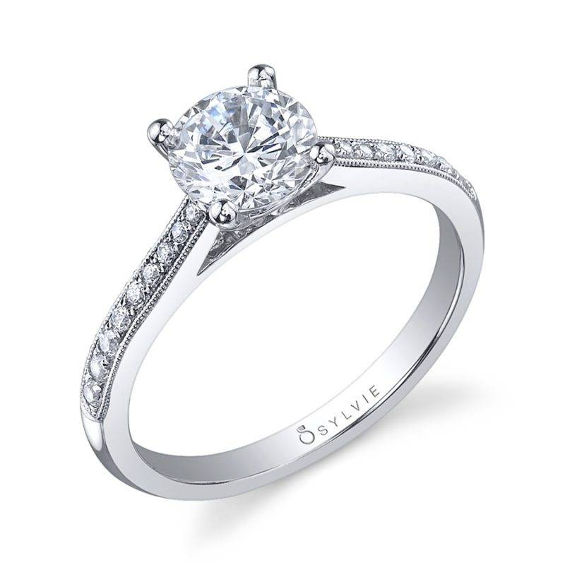 Emmanuelle - Modern Solitaire Engagement Ring - SY126