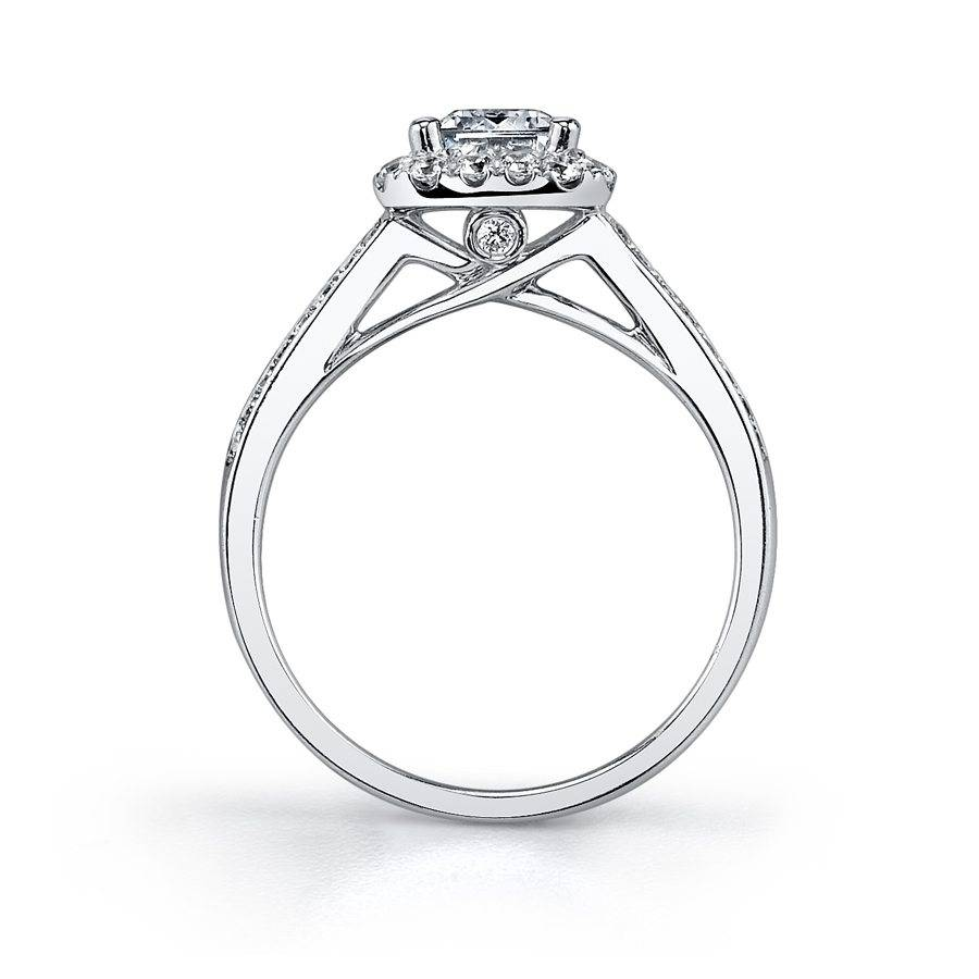 Chlotilde - Emerald Engagement Ring with Split Shank _ SY827