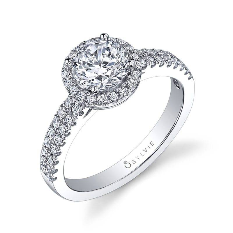 Emma -Classic Oval Engagement Ring with Halo - S1475