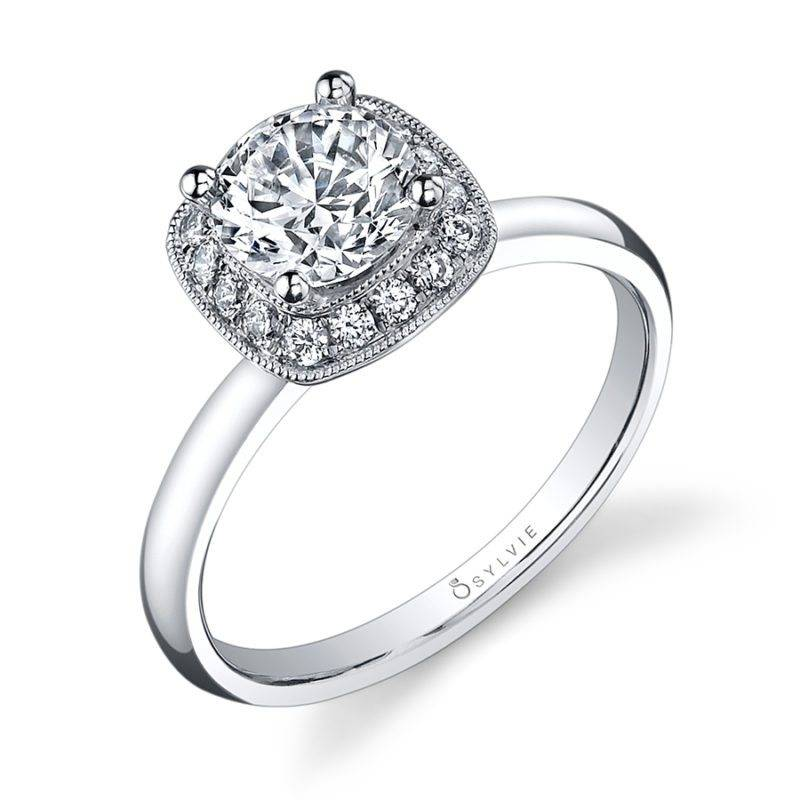 Lilaine - Modern Halo Engagement Ring - SY859