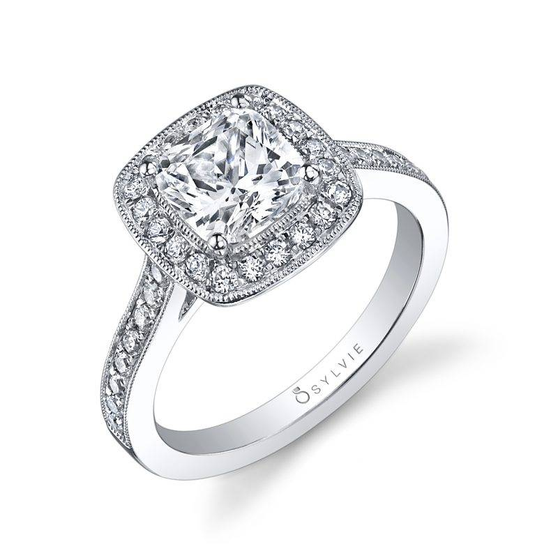 Karoline - Cushion Cut Bezel Set Engagement Ring - S1317