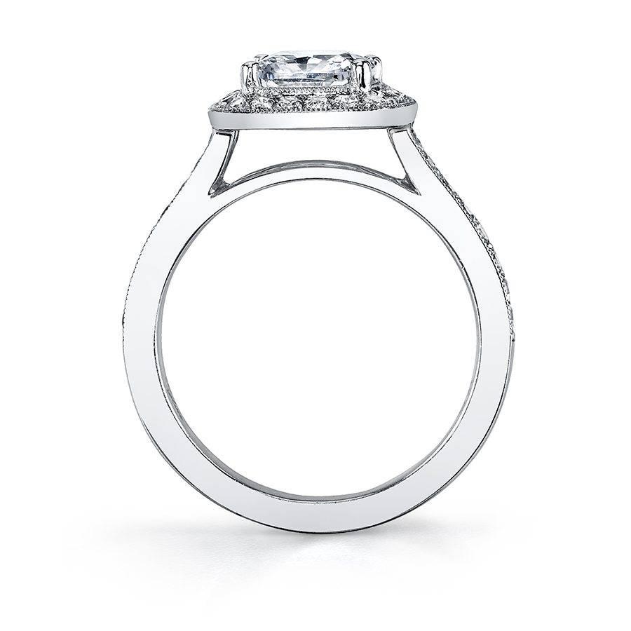 Catherine - Modern Cushion Halo Engagement Ring - SY865