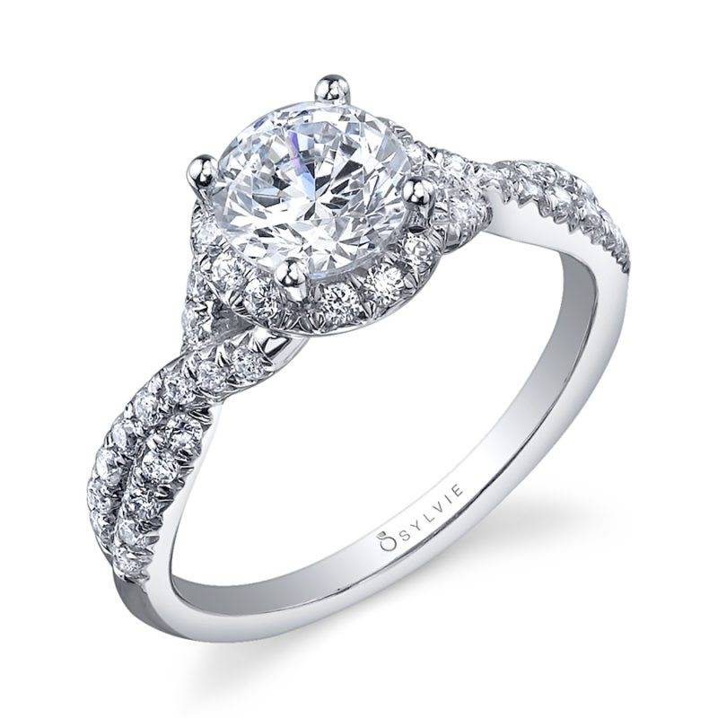 Astride - Pear Shaped Engagement Ring with Halo - SY096