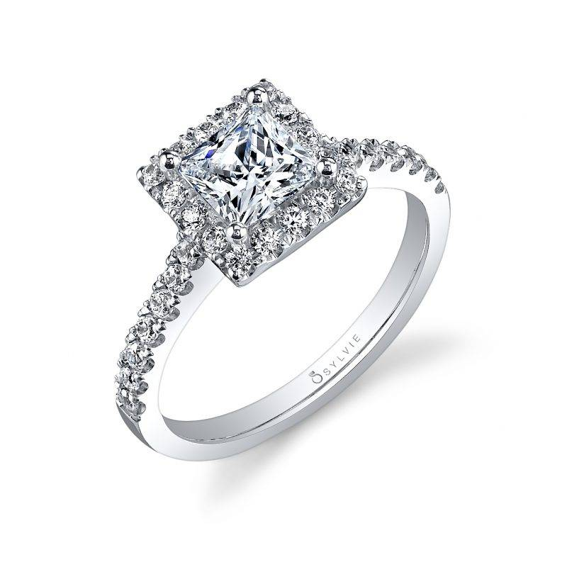 Emeline - Oval Engagement Ring with Halo - S1199