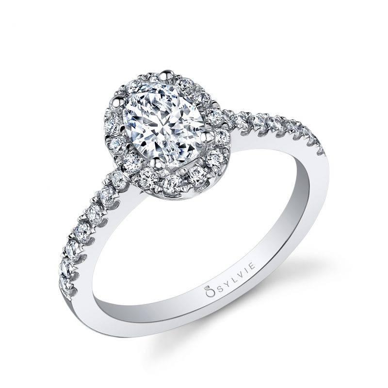 Angelika - Cushion Cut Engagement Ring with Halo - SY395
