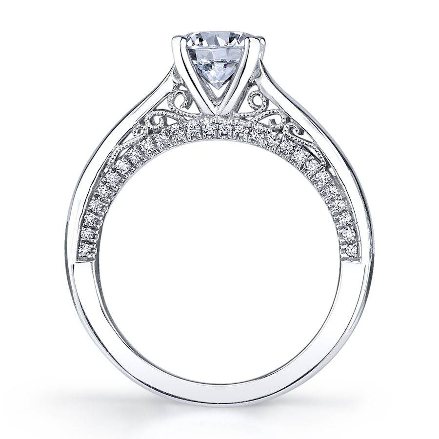Karina - Solitaire Engagement Ring with Diamond Profile - S1531