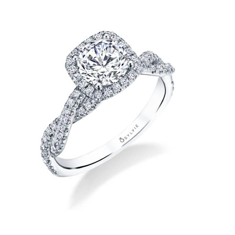 Noella - Marquise Halo Engagement Ring - SY696