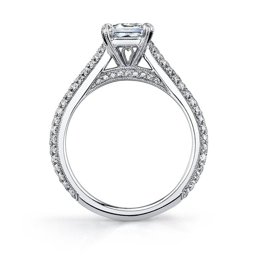 Constance - Micro Pave Solitaire Engagement Ring - SY090