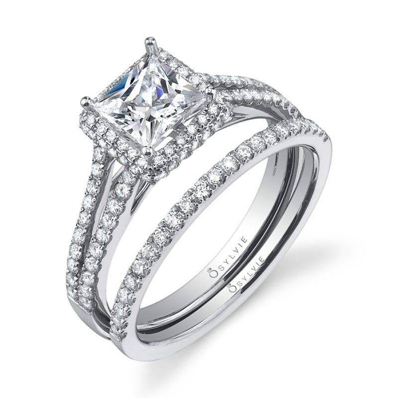 Clarice - Princess Cut Halo Engagement Ring - SY595