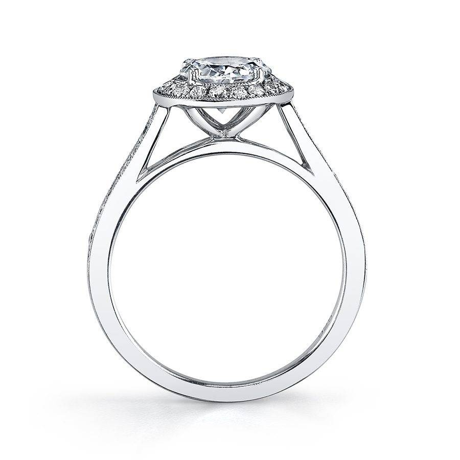 Yvette - Classic Round Engagement Ring with Halo - SY310