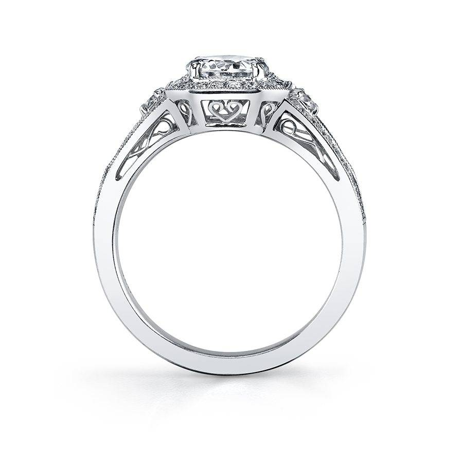 Solange - Vintage Inspired Engagement Ring with Halo - SY442