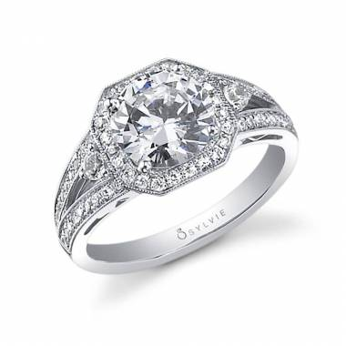 Vintage Inspired Engagement Ring with Halo