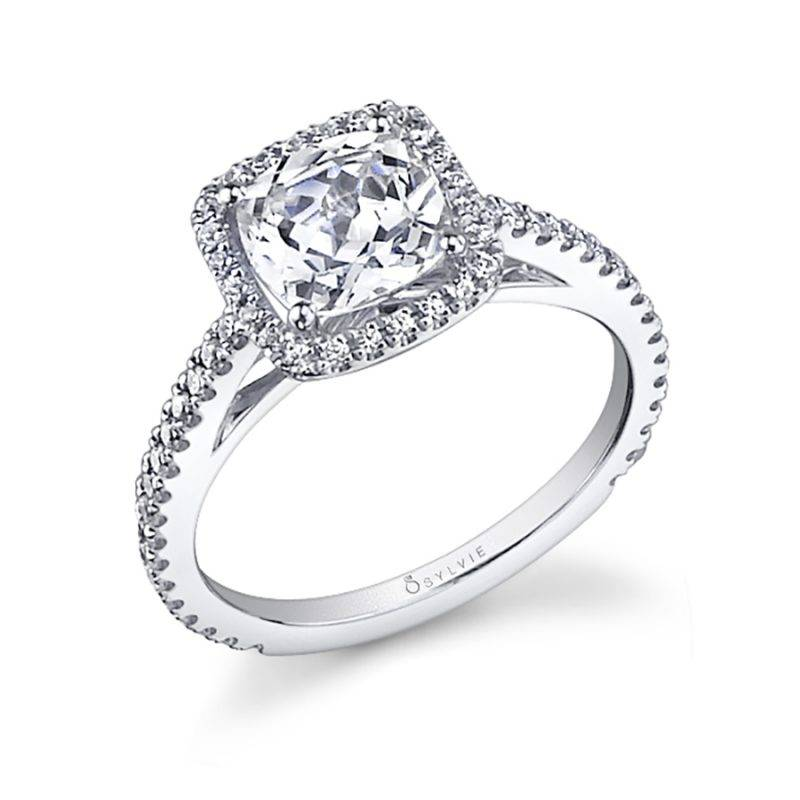 Klara - Cushion Cut Halo Engagement Ring - SY590