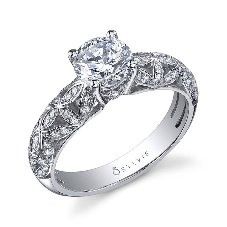 Janelle - Vintage Inspired Round Cushion Halo Engagement Ring - S1015