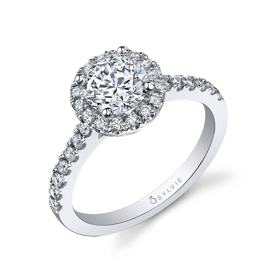 b321ef1b8890 Chantelle - Classic Round Halo Engagement Ring