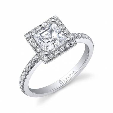 Sibyl – Princess Cut Halo Engagement Ring