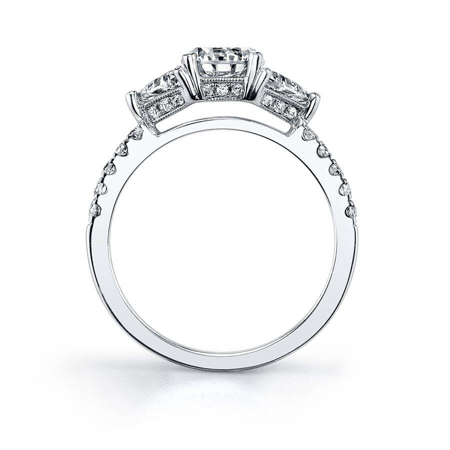 Bridgette - Three Stone Engagement Ring - S1084