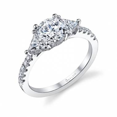 Bridgette - Three Stone Engagement Ring - S1084
