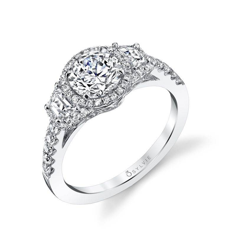 Tina - Classic Cushion Cut Engagement Ring with Halo - SY321