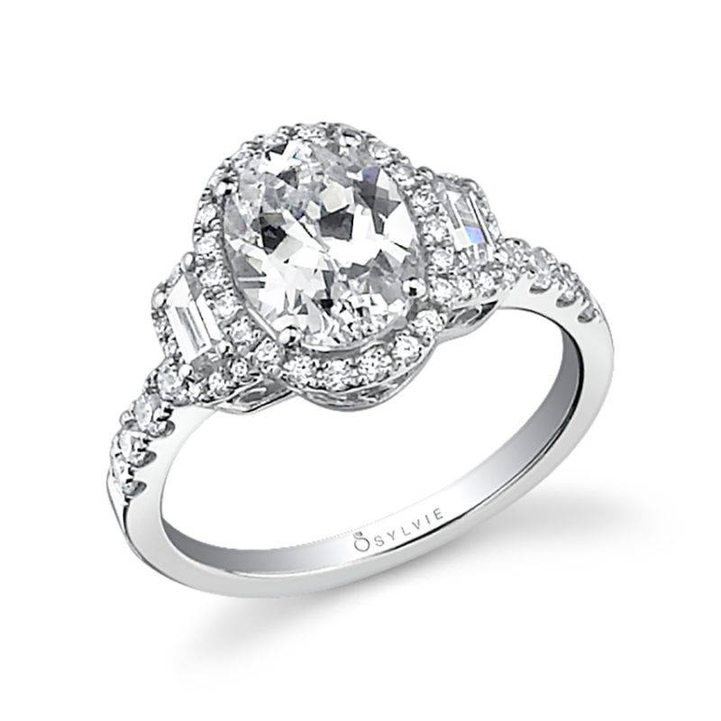 Laurianne - Princess Cut Engagement Ring with Halo - SY718