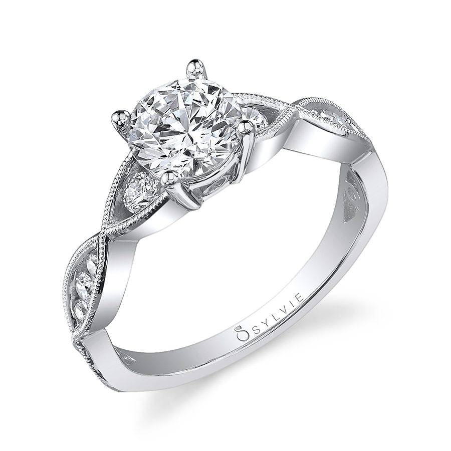 Christelle - Spiral Engagement Ring with Halo - SY429