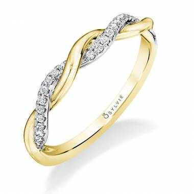 Modern Spiral Wedding Band