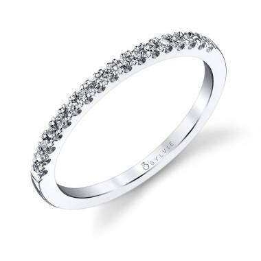 Diamond Pave Wedding Band - BS131