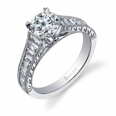Marilyn – Classic Hand Engraved Solitaire Engagement Ring