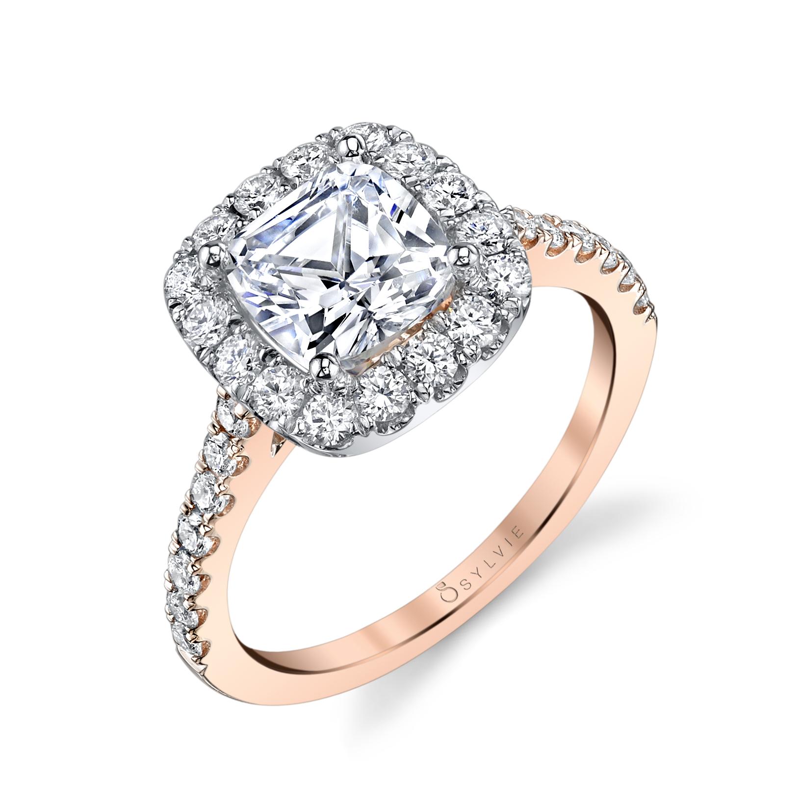 Enhanced Cushion Halo Engagement Ring