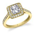 Yvette – Classic Princess Cut Engagement Ring