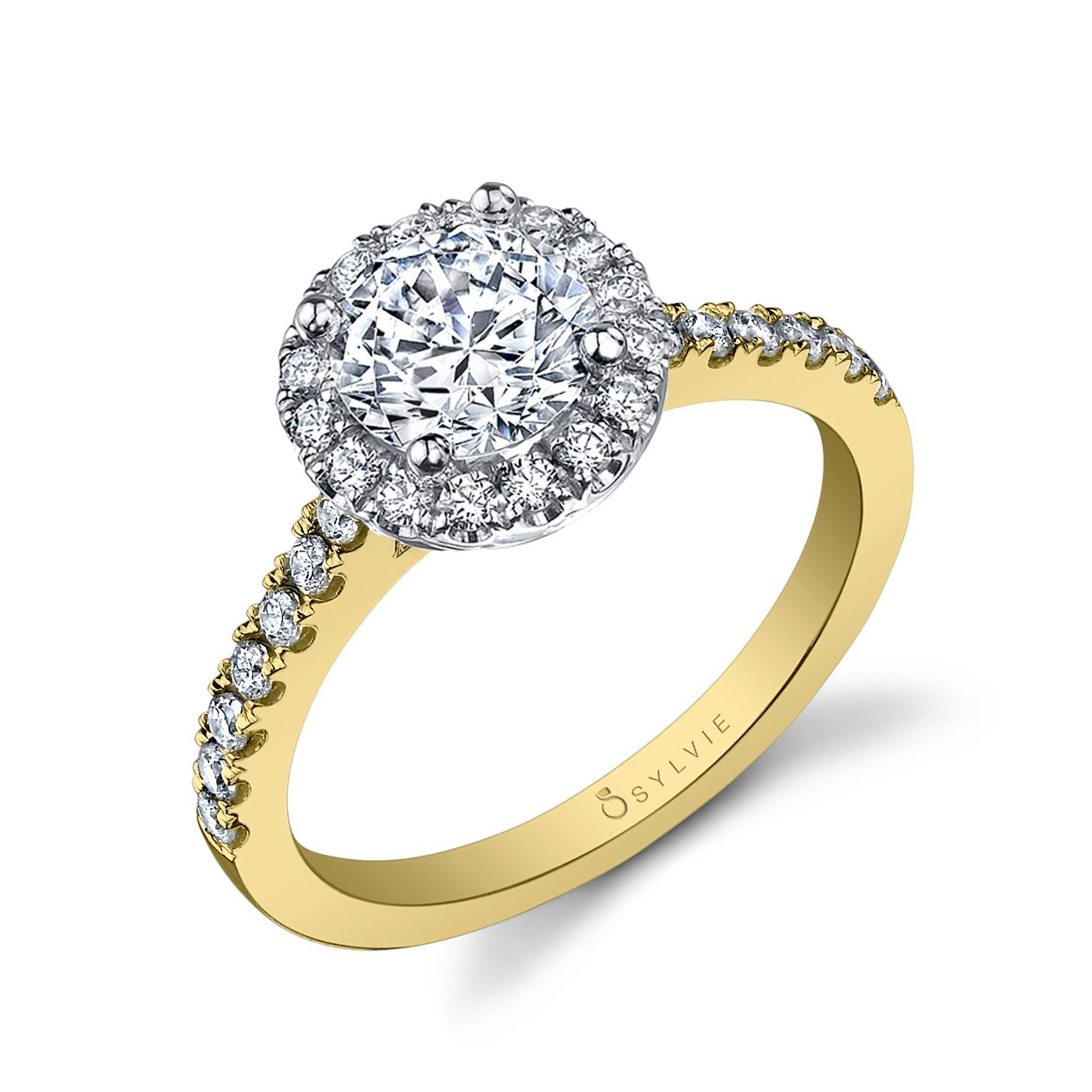 Adrienne – Classic Halo Engagement Ring