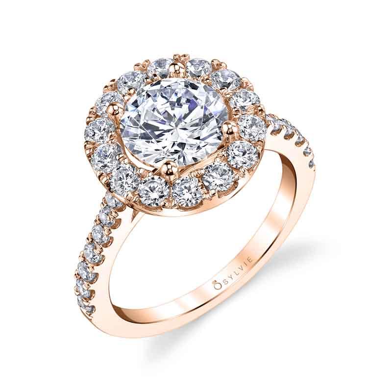 Samantha - Classic Halo Engagement Ring